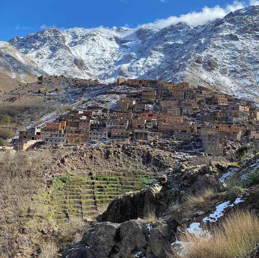 Berber Village on the edge of the Atlas Mountains