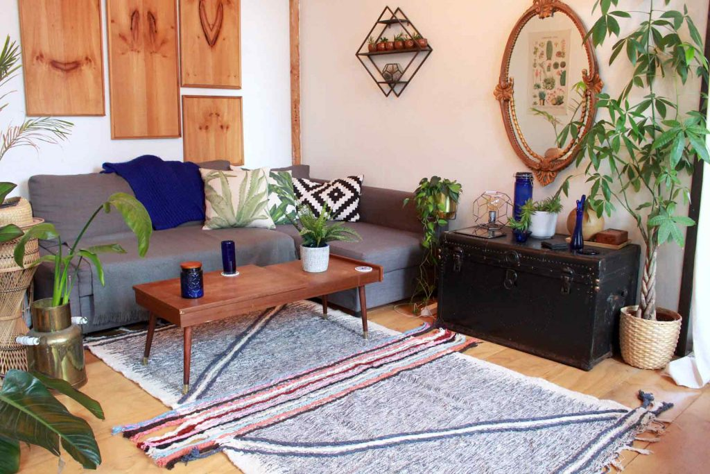 Zanafi Reversible Moroccan Kilim Rug - Marhaba