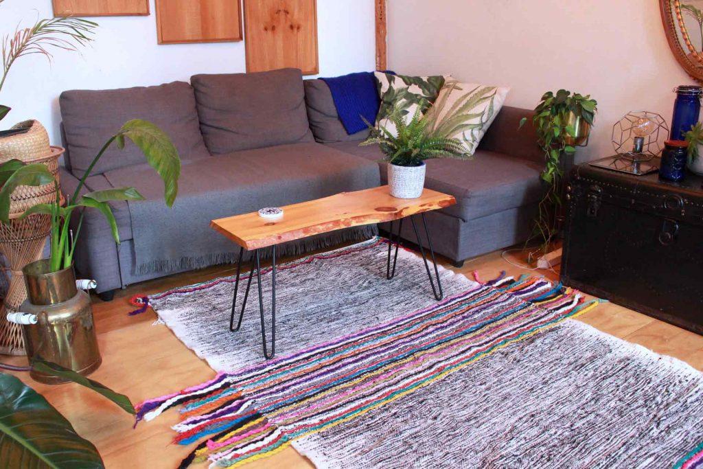 Black & White Kilim Rug with Colorful Centre Tassels - Flat Weave Kilim - Nichan
