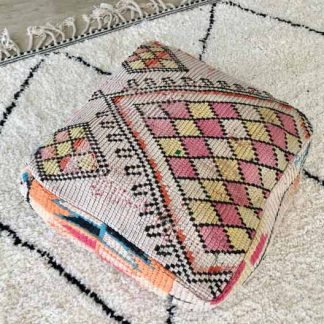 Pink Vintage Moroccan Pouf