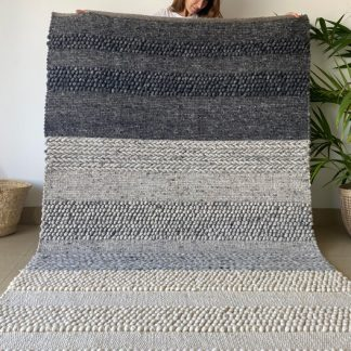Large Grey Moroccan Beni Ourain Rug
